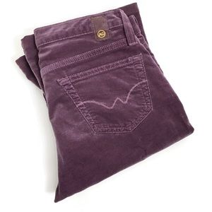 AG Adriano Goldschmied Velvet Purple Jeans O0290